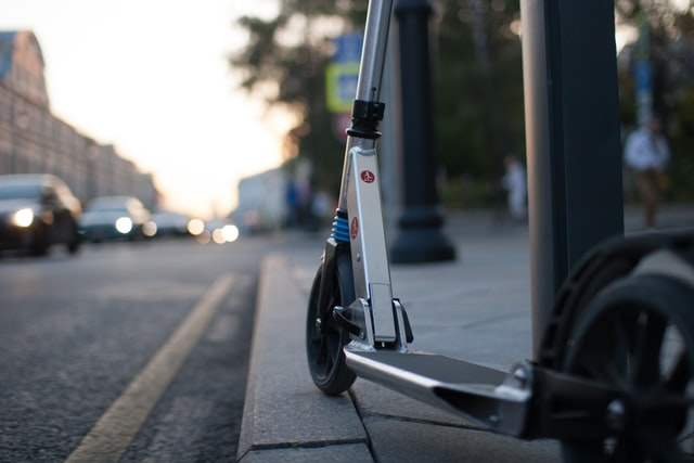 electric scooter safety tips, scooter on street